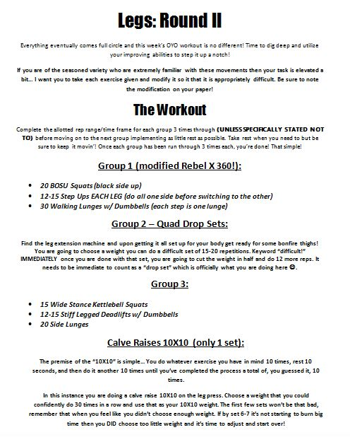 The 5th OYO Circus Workout!