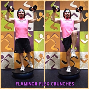 Flamingo Flex Crunches