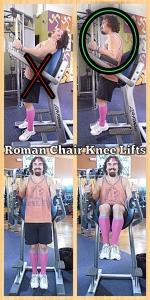 Roman Chair Knee Lifts