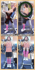 Roman Chair Knee Lifts