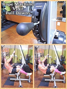Rope Machine V-sit Pull-Downs