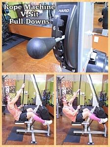 Rope Machine V-sit Pull-Downs