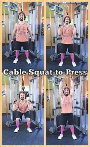 Squat-to-Press (Cable)