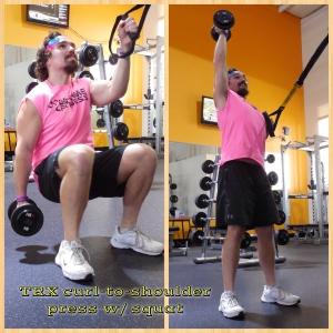 TRX Curl to Shoulder Press with Squat