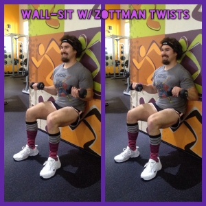 Wall-Sit w- Zottman Twists