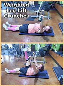 Weighted Leg Lift Crunches