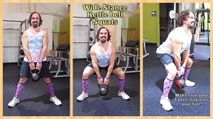 Wide Stance Kettle Bell Squats