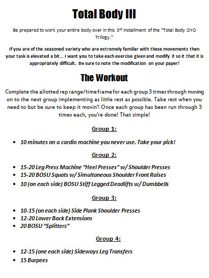 Click on the photo of the workout to download the workout itself, exercise reference guide, and workout tracking sheet!