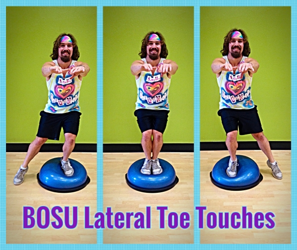 BOSU Lateral Toe Touches