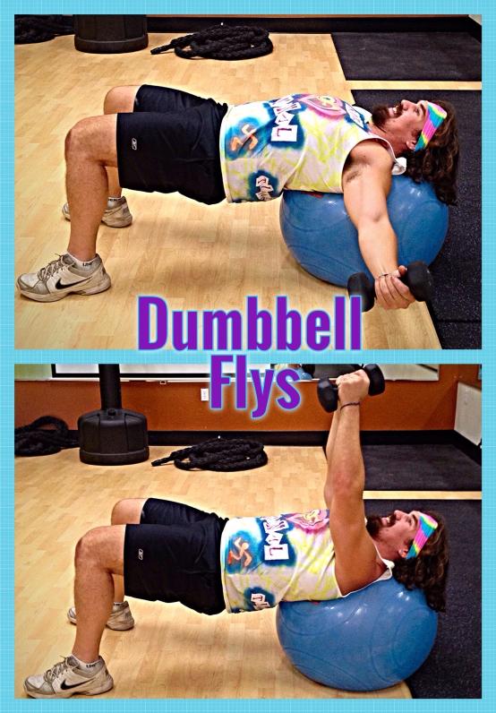 Dumbbell Flys w. Stability Ball