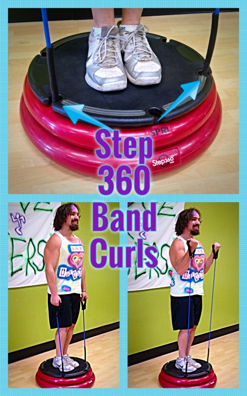 Step 360 Band Curls