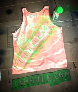 The first picture of the first shirt I ever spray painted.
